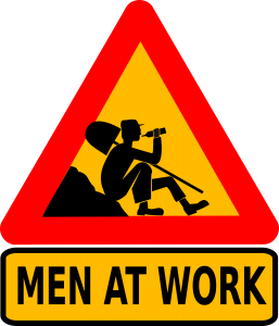 OpenClipart - cybergedeon-men-at-work-text