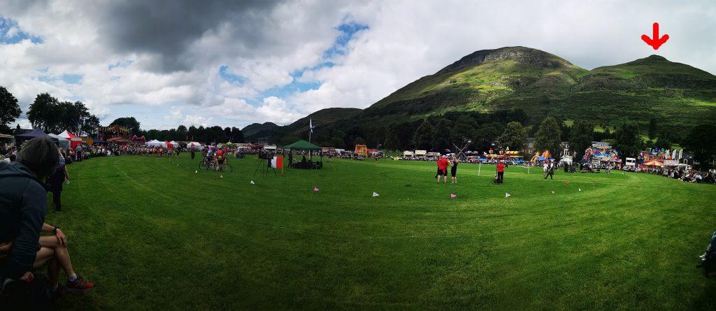 Sportplatz mit Hillrace Berg