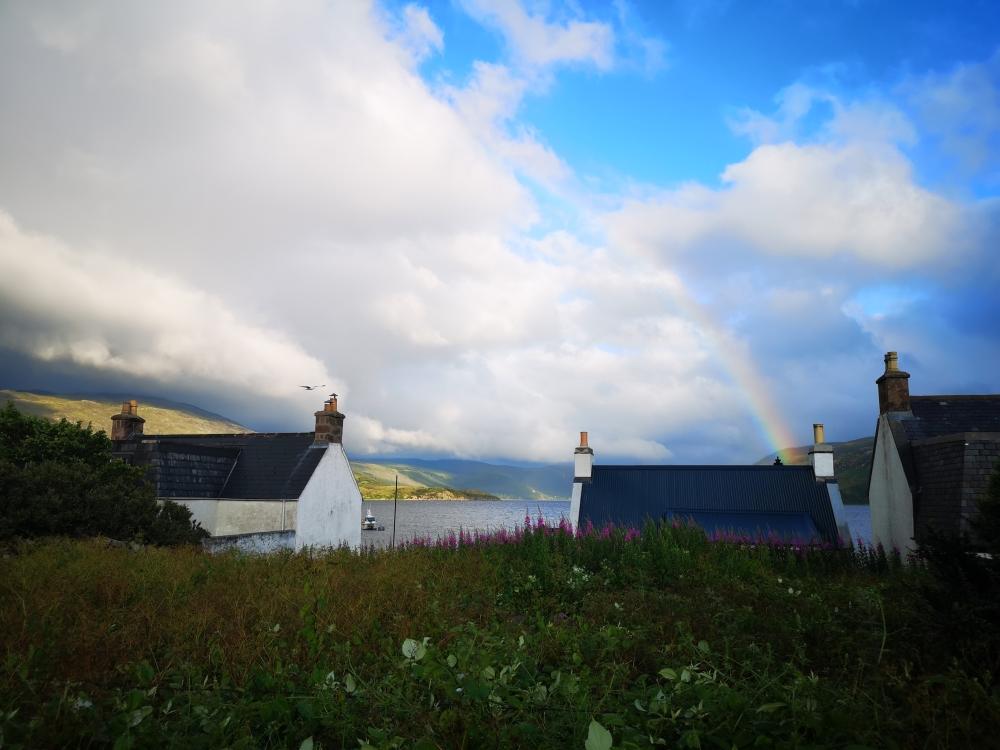Regenbogen über Loch Broom bei Ullapool