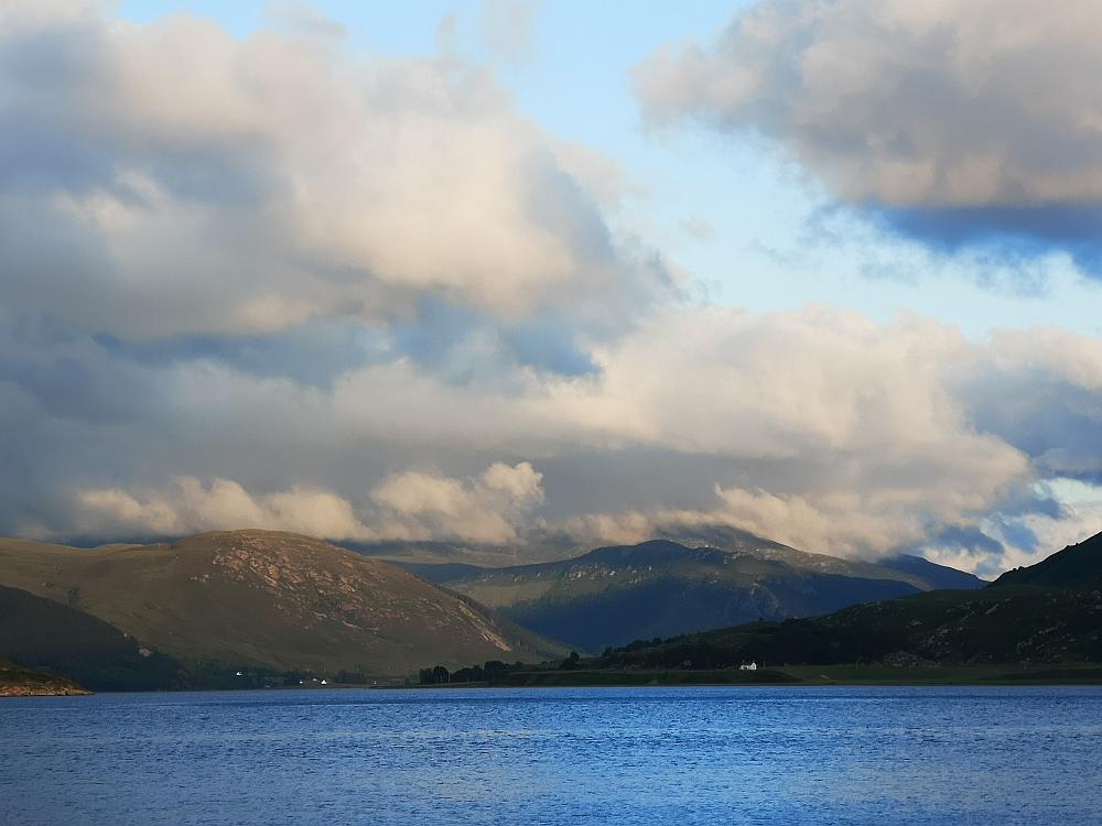 Wolken über den Highlands