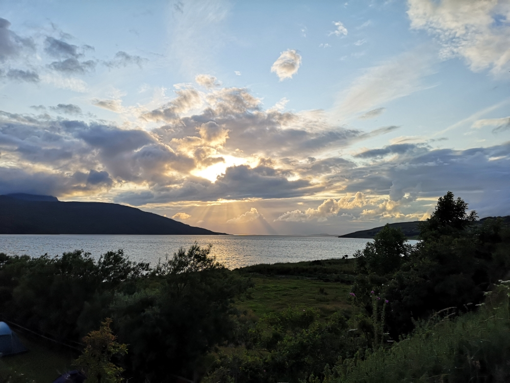 Sonnenuntergang am Loch Broom