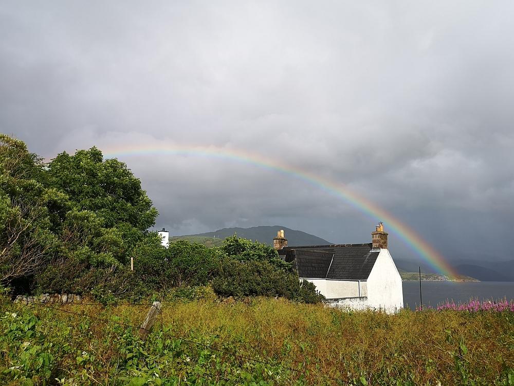 Regenbogen über Ullapool