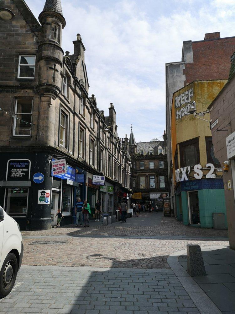 Seitenstraße in Inverness