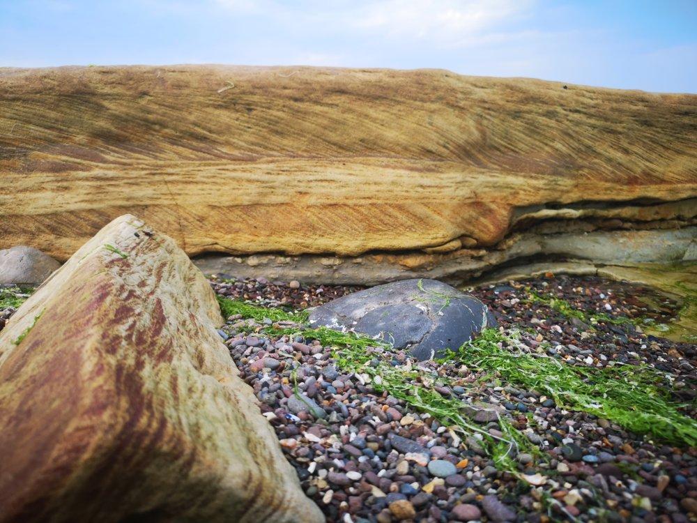 Strand mit Steine